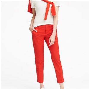NWT BANANA REPUBLIC Avery Red Cropped Pants size 4